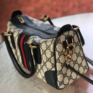 VINTAGE GUCCI SHOULDER BAG WITH TOP HANDLES